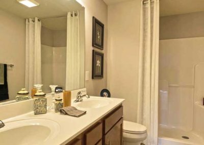 master bath in the yates farm condo