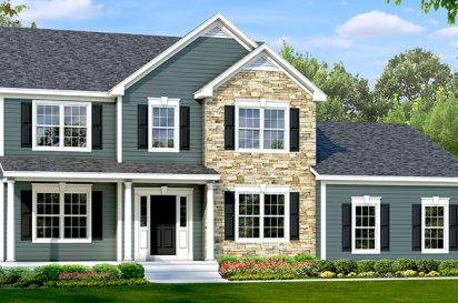 exterior rendering of the belle grove i at winding brook estates