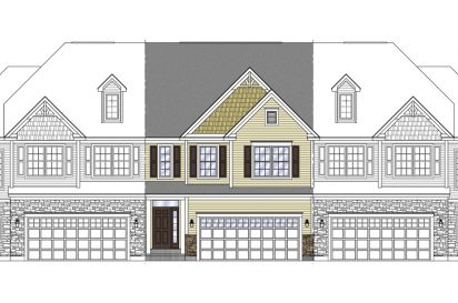 drawn elevation for charleston townhome