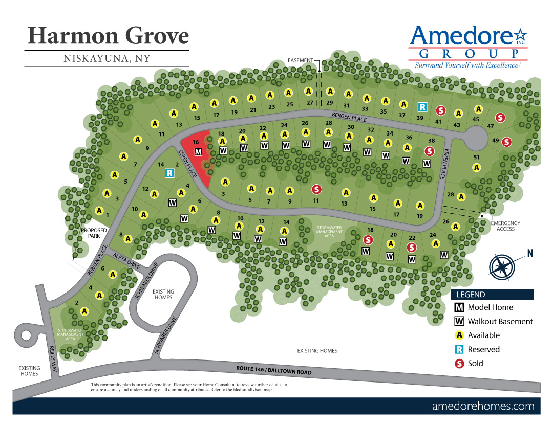 Harmon Grove Site Map