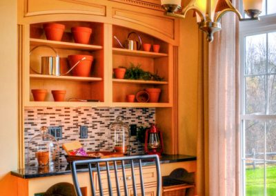 custom built in cabinetry in the dining area