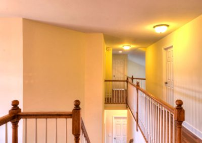 upper landing of dual staircase