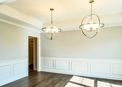 dining room and tray ceiling