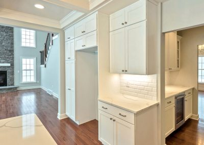 white cabinets and butlers pantry