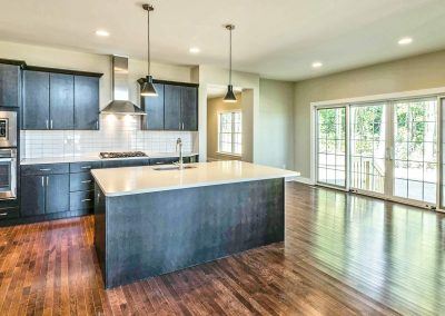 dark cabinets with vented hood